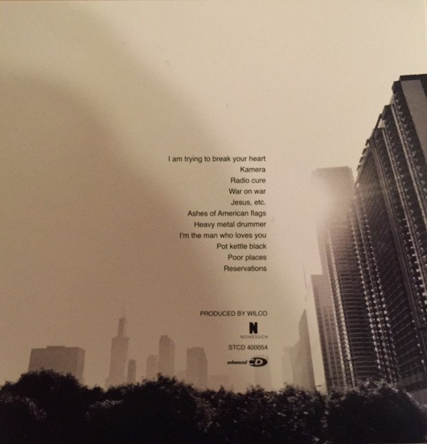 Wilco Yankee Hotel Foxtrot back cover
