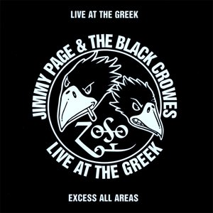 Live at the Greek album cover Black Crowes Jimmy Page